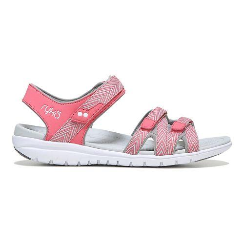 Womens Ryka Savannah Sandals Shoe - White/Grey 7