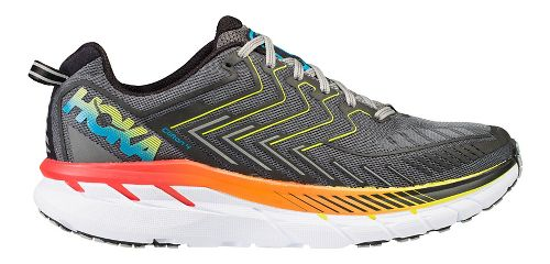 Mens Hoka One One Clifton 4 Running Shoe - Grey/Orange 14