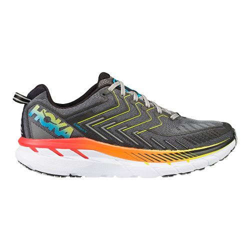 Mens Hoka One One Clifton 4 Running Shoe - Grey/Orange 9