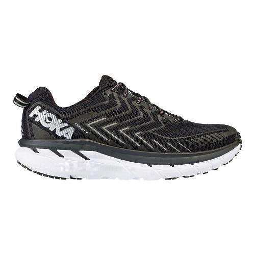Mens Hoka One One Clifton 4 Running Shoe - Black/White 11