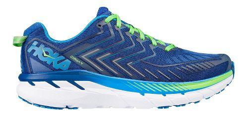 Mens Hoka One One Clifton 4 Running Shoe - Blue/Green 8