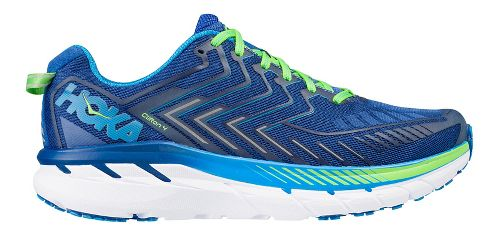 Mens Hoka One One Clifton 4 Running Shoe - Blue/Green 9