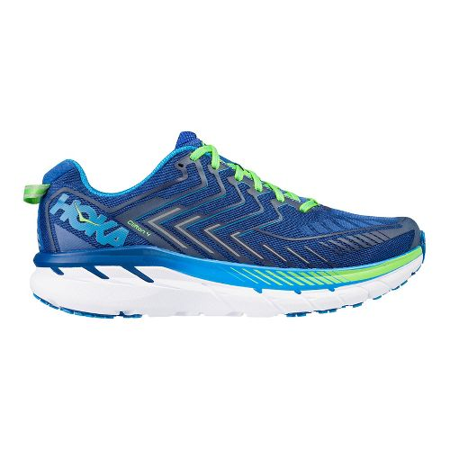 Mens Hoka One One Clifton 4 Running Shoe - Blue/Green 11.5