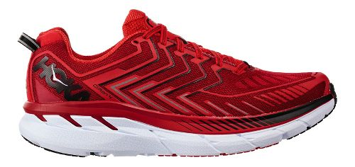 Mens Hoka One One Clifton 4 Running Shoe - Red/Black 9