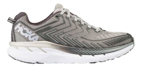 Mens Hoka One One Clifton 4 Running Shoe - Grey/White 13