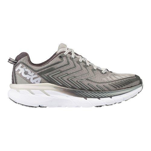 Mens Hoka One One Clifton 4 Running Shoe - Grey/White 8