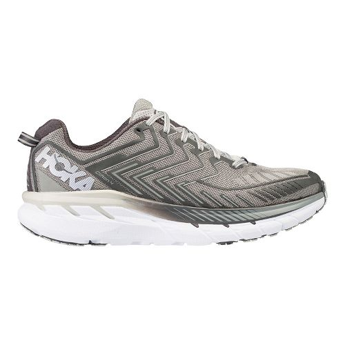 Mens Hoka One One Clifton 4 Running Shoe - Grey/White 8.5