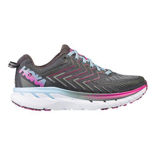 Womens Hoka One One Clifton 4 Running Shoe - Grey/Pink 7.5
