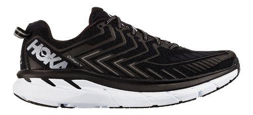 Womens Hoka One One Clifton 4 Running Shoe - Black/White 5