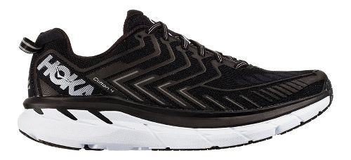 Womens Hoka One One Clifton 4 Running Shoe - Black/White 8.5
