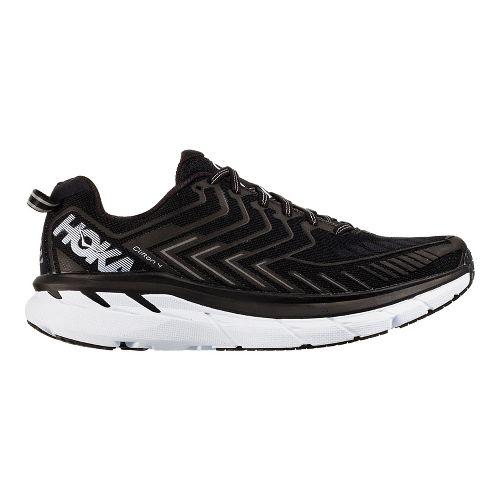 Womens Hoka One One Clifton 4 Running Shoe - Black/White 11