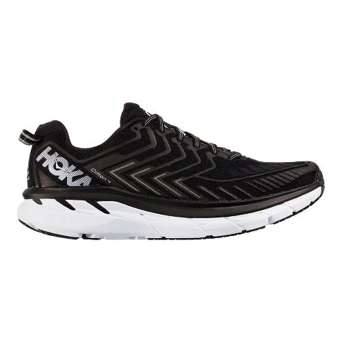 Womens Hoka One One Clifton 4 Running Shoe - Black/White 5.5