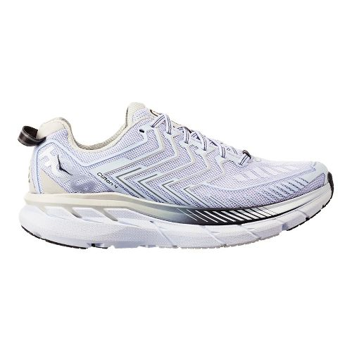 Womens Hoka One One Clifton 4 Running Shoe - White/Black Pearl 10.5
