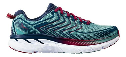 Womens Hoka One One Clifton 4 Running Shoe - Aquifer/Indigo 6.5