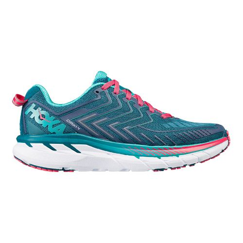 Womens Hoka One One Clifton 4 Running Shoe - Turquoise/Pink 9.5