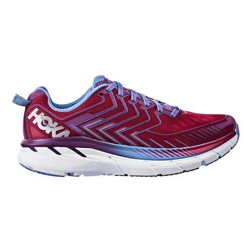 Womens Hoka One One Clifton 4 Running Shoe - Cherry/Purple 9