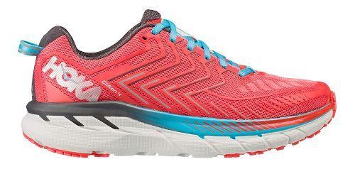 Womens Hoka One One Clifton 4 Running Shoe - Coral/Blue 11