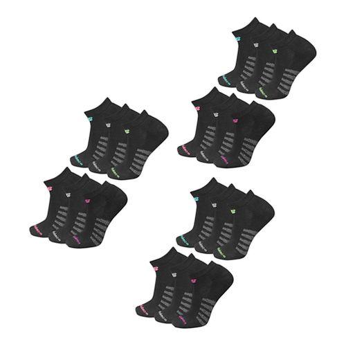 Mens New Balance Core Cotton Low Cut 18 Pack Socks - Black M