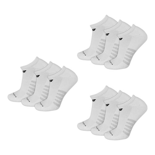 Mens New Balance Core Cotton No Show 9 Pack Socks - White L