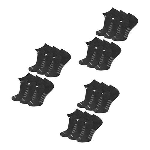Mens New Balance Core Cotton No Show 18 Pack Socks - Black XL