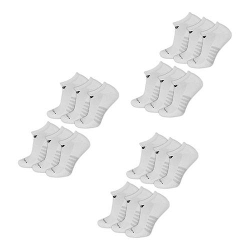 Mens New Balance Core Cotton No Show 18 Pack Socks - White L