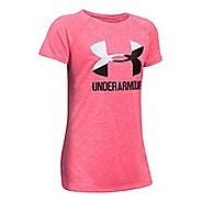 Under Armour Girls Novelty Big LogoTee Short Sleeve Technical Tops