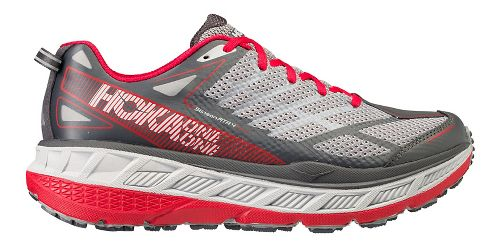 Mens Hoka One One Stinson ATR 4 Trail Running Shoe - Grey/Red 10.5