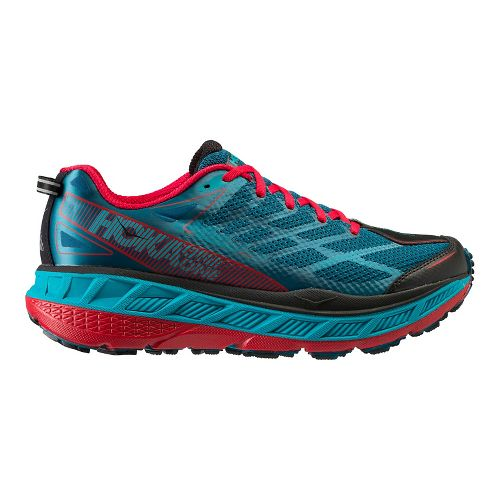 Mens Hoka One One Stinson ATR 4 Trail Running Shoe - Blue/Red 10.5