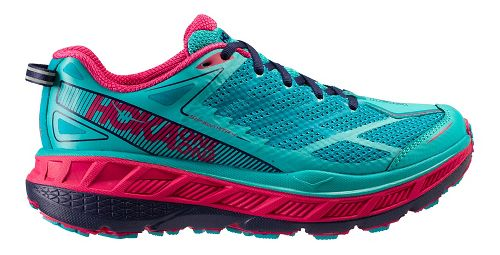 Womens Hoka One One Stinson ATR 4 Trail Running Shoe - Turquoise/Navy 10.5
