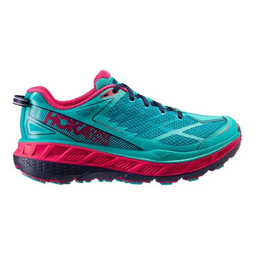 Womens Hoka One One Stinson ATR 4 Trail Running Shoe - Turquoise/Navy 10