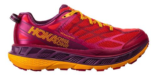 Womens Hoka One One Stinson ATR 4 Trail Running Shoe - Cherry/Purple 9