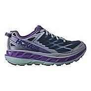 Womens Hoka One One Stinson ATR 4 Trail Running Shoe - Indigo/Purple 10.5