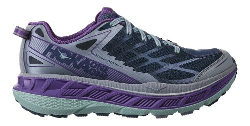 Womens Hoka One One Stinson ATR 4 Trail Running Shoe - Indigo/Purple 7.5