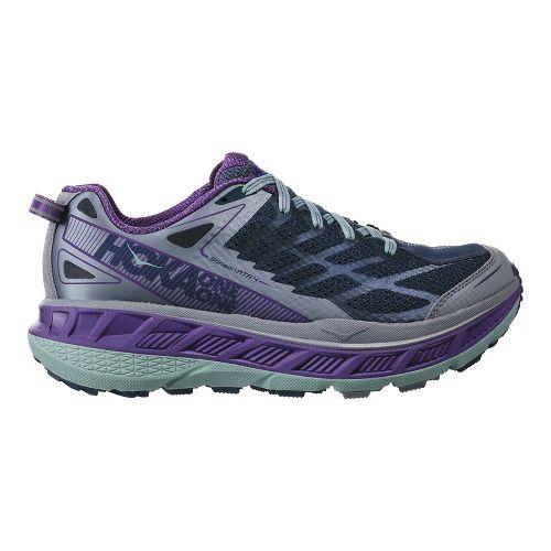 Womens Hoka One One Stinson ATR 4 Trail Running Shoe - Indigo/Purple 11