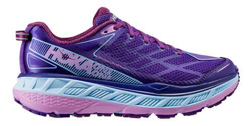 Womens Hoka One One Stinson ATR 4 Trail Running Shoe - Grey/Pink 9