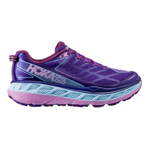 Womens Hoka One One Stinson ATR 4 Trail Running Shoe - Grey/Pink 6.5