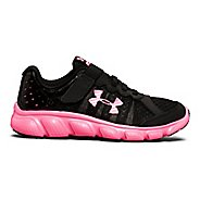 Kids Under Armour Assert 6 AC Running Shoe - Black/Mojo Pink 3Y