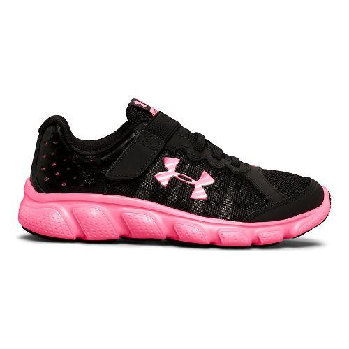 Kids Under Armour Assert 6 AC Running Shoe - Black/Mojo Pink 3Y