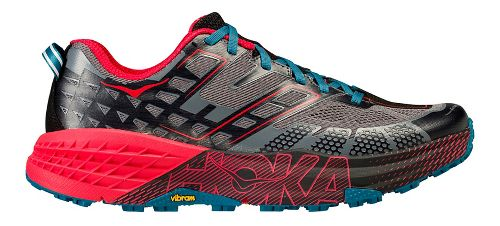 Mens Hoka One One Speedgoat 2 Trail Running Shoe - Black/Red 7