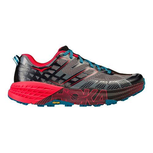 Mens Hoka One One Speedgoat 2 Trail Running Shoe - Black/Red 10.5