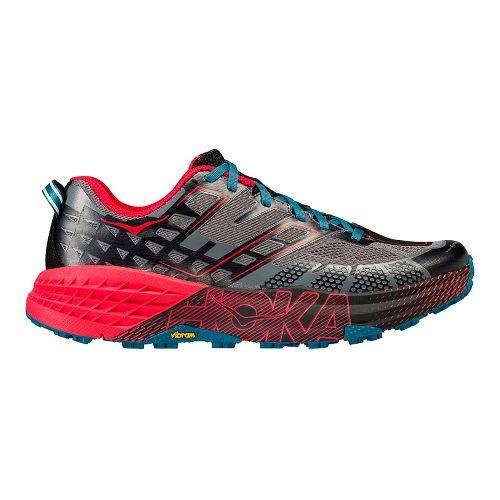Mens Hoka One One Speedgoat 2 Trail Running Shoe - Black/Red 9