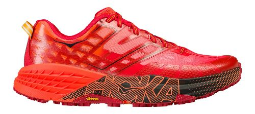 Mens Hoka One One Speedgoat 2 Trail Running Shoe - Red/Chili 14