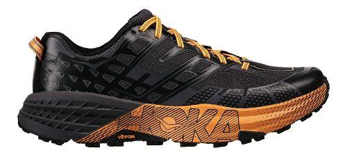 Mens Hoka One One Speedgoat 2 Trail Running Shoe - Black/Kumquat 12