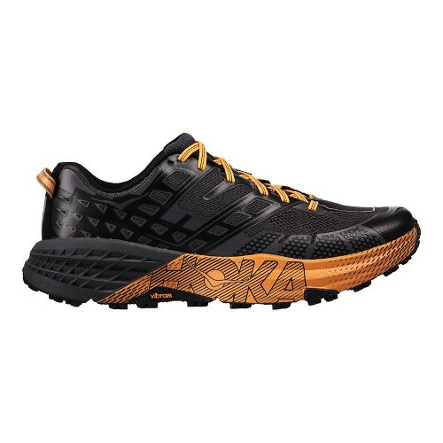 Mens Hoka One One Speedgoat 2 Trail Running Shoe - Black/Kumquat 12