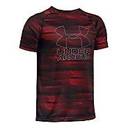 Under Armour Boys Big Logo Hybrid 2.0 Printed T Short Sleeve Technical Tops