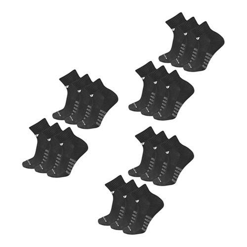 Mens New Balance Core Cotton Quarter 18 Pack Socks - Black XL