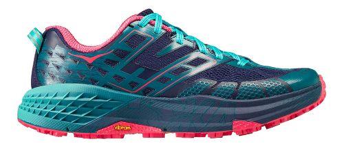 Womens Hoka One One Speedgoat 2 Trail Running Shoe - Navy/Turquoise 10