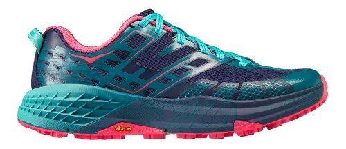 Womens Hoka One One Speedgoat 2 Trail Running Shoe - Navy/Turquoise 9