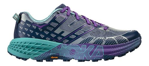Womens Hoka One One Speedgoat 2 Trail Running Shoe - Tradewinds/Indigo 6.5