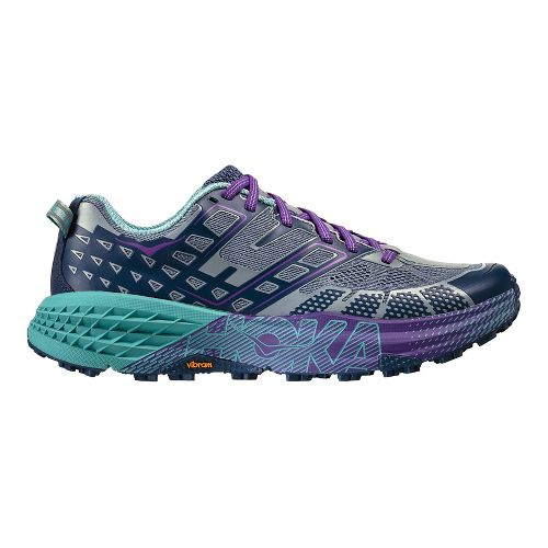 Womens Hoka One One Speedgoat 2 Trail Running Shoe - Tradewinds/Indigo 6